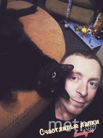 Табаев Кирилл с котом Баксом.