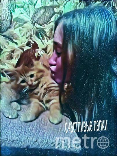 Ангелина Киселева и кошка Бонни.
