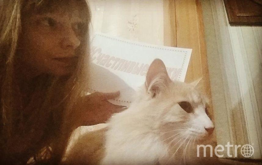 Мария Забелина и котик Бонни.