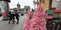 Необычные ёлки выросли в центре Петербурга: как украсили город