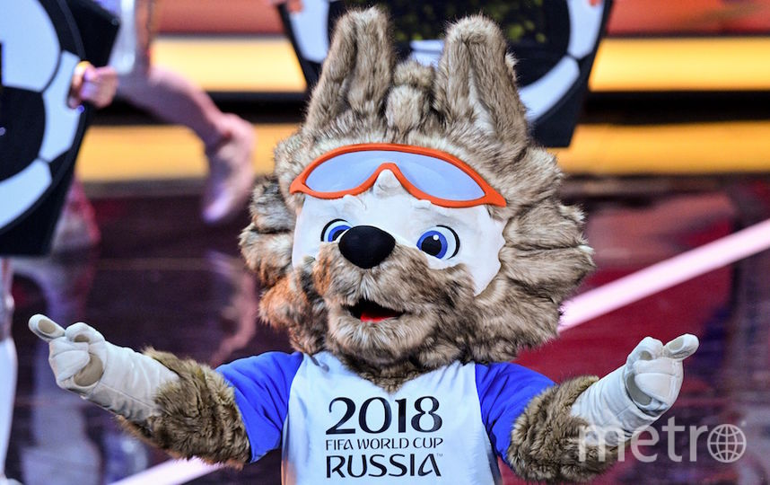 Талисман ЧМ - волк Забивака. Фото AFP