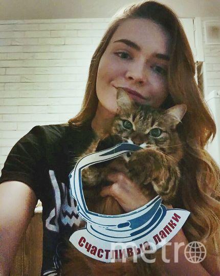 Ангелина Орденова с кошкой Сибирью.