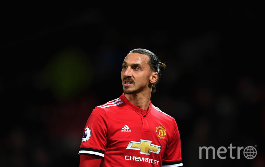 "Форвард ""Манчестер Юнайтед"" Златан Ибрагимович. Фото Getty"