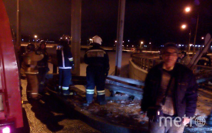 В Сети появились фото с места ДТП на развязке Шафировского и Индустриального. Фото vk.com