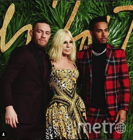 Fashion Awards-2017. Донателла Версаче и Льюис Хэмилтон. Фото Instagram