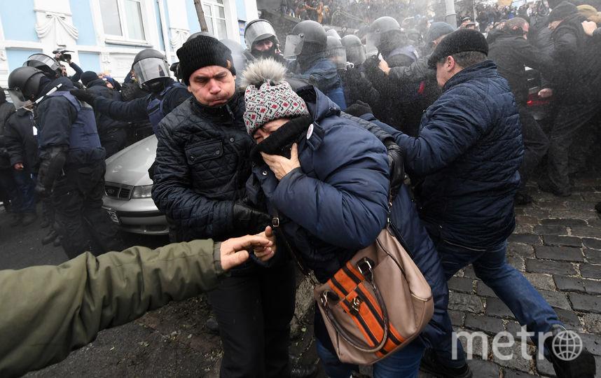 Борьба за Михаила Саакашвили в Киеве обернулась стычками с силовиками. Фото AFP