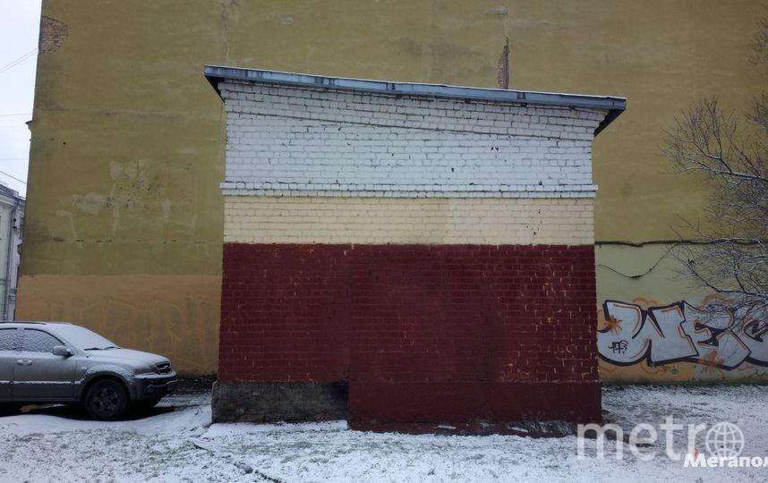 В Петербурге закрасили граффити, посвященное жертвам теракта в метро. Фото megapolisonline.ru