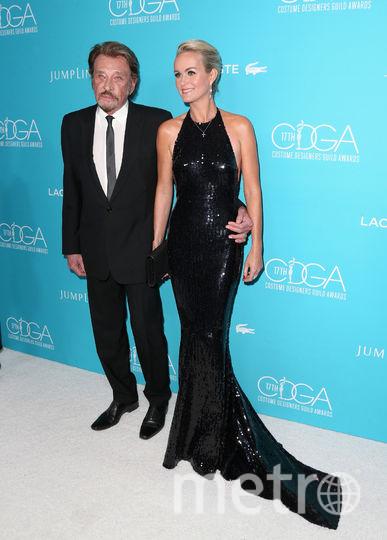 Джонни Холлидей с женой Летицией. Фото Getty