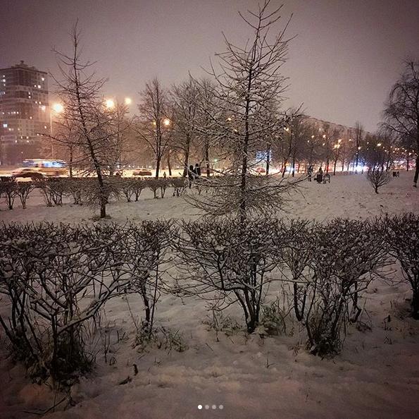 Заснеженный Санкт-Петербург. Фото Скриншот Instagram: @tanity1803