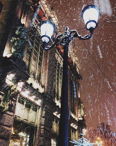 Заснеженный Санкт-Петербург. Фото Скриншот Instagram: @toshechkagl