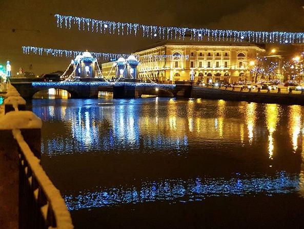 Заснеженный Санкт-Петербург. Фото Скриншот Instagram: @veschyoleg