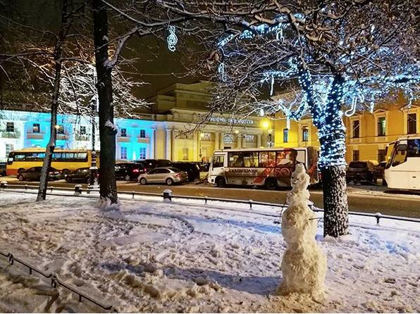 Заснеженный Санкт-Петербург. Фото Скриншот Instagram: @s_p.spb