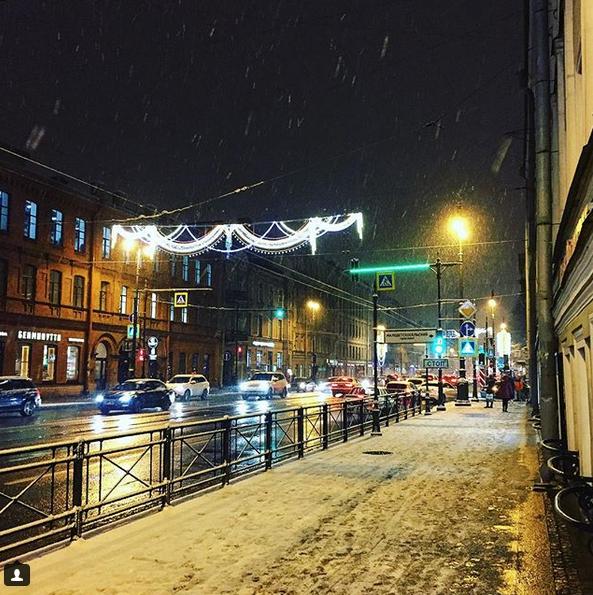 Заснеженный Санкт-Петербург. Фото Скриншот Instagram: @lerikorex