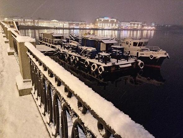 Заснеженный Санкт-Петербург. Фото Скриншот Instagram: @agafjamakey