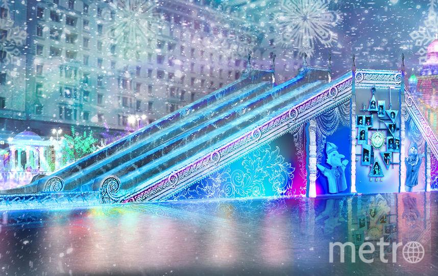Горка на Манежной площади. Фото Предоставлено организаторами