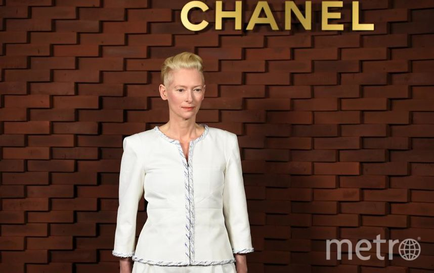 Показ новой коллекции Chanel. Тильда Суинтон. Фото Getty
