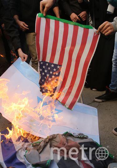 Палестинцы недовльны решением президента США Дональда Трампа. Фото AFP