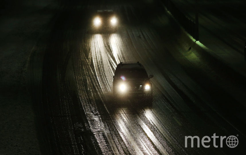 Обледеневшая дорога. Фото Getty