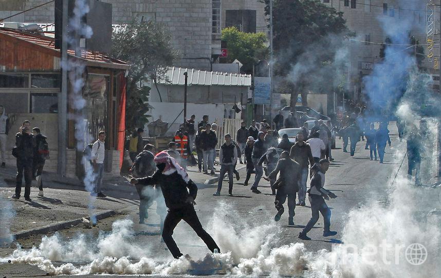 Палестинские протестующие в Вифлееме. Фото AFP