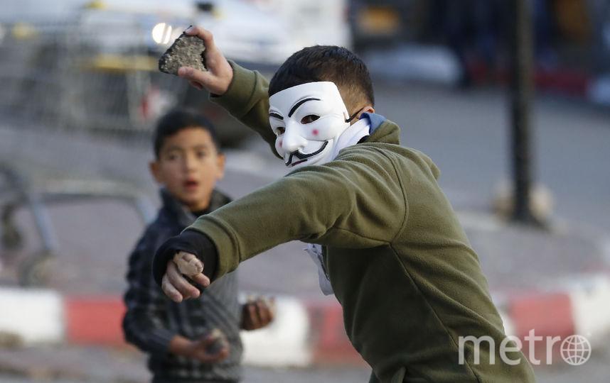 Протесты в палестинском Хевроне. Фото AFP