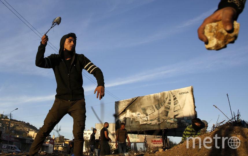 Протесты в палестинском городе Наблус. Фото AFP