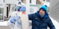 Дед Мороз пришел в гости к футболистам команды