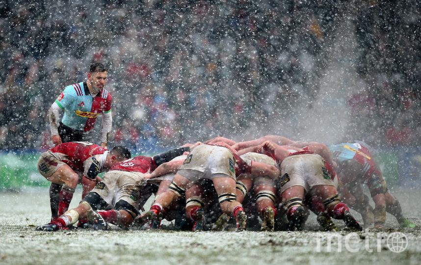 Так играли в регби в Лондоне 10 декабря. Фото Getty