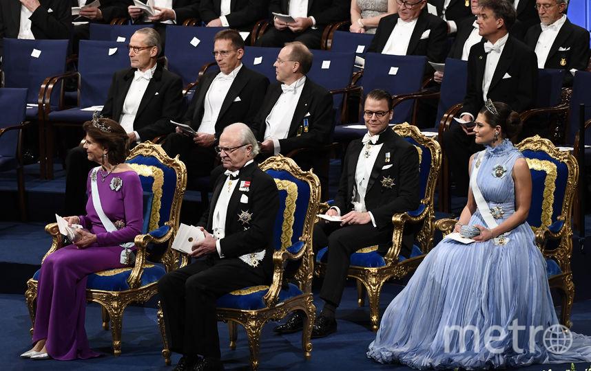 Королева Швеции Сильвия, король Карл XVI Густав, наследная принцесса Виктория, принц Даниэль. Фото AFP