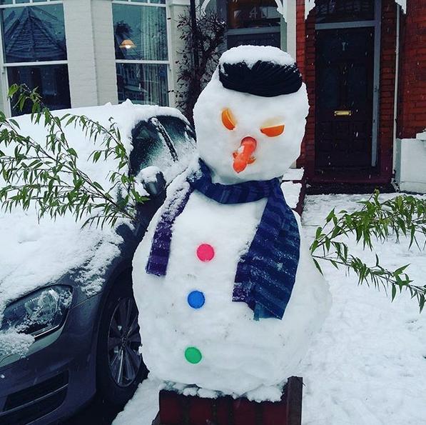 Самые странные и забавные снеговики в Instagram: Фото. Фото Скриншот Instagram: @svetapantechis