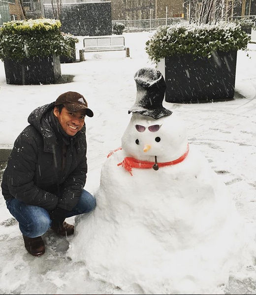 Самые странные и забавные снеговики в Instagram: Фото. Фото Скриншот Instagram: @alex.amsterdam