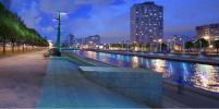 На Новосмоленской набережной появится освещение с Интернетом