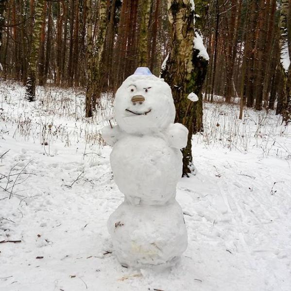 Angry-снеговик. Фото Скриншот instagram.com/gayuliya/?hl=ru