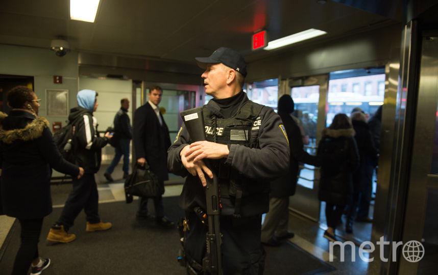 Район автовокзала Порт Ауторити в Нью-Йорке после взрыва. Фото AFP