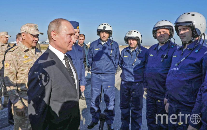 Владимир Путин заявил о выводе войск из Сирии. Фото AFP