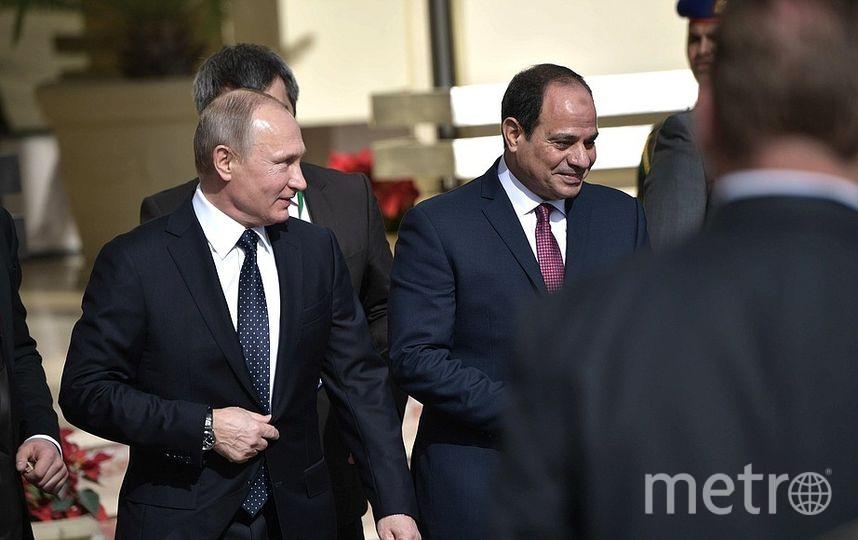 Президент России Владимир Путин и президент республики Египет Абдельфаттах Сиси. Фото kremlin.ru