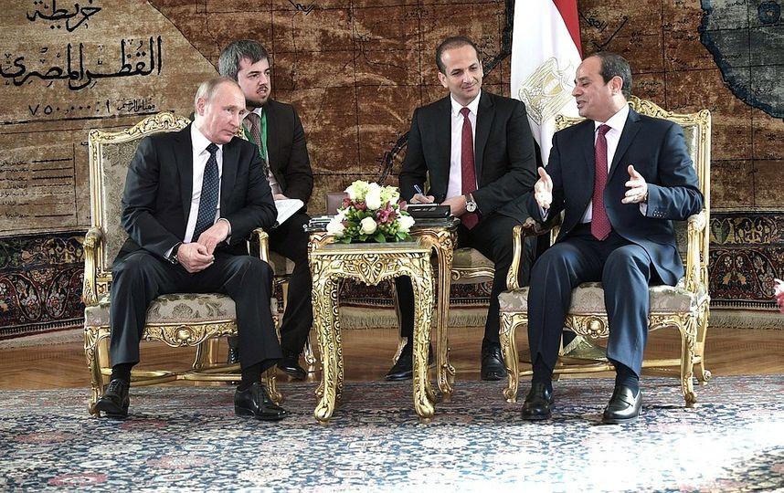 Российско-египетские переговоры. Фото kremlin.ru