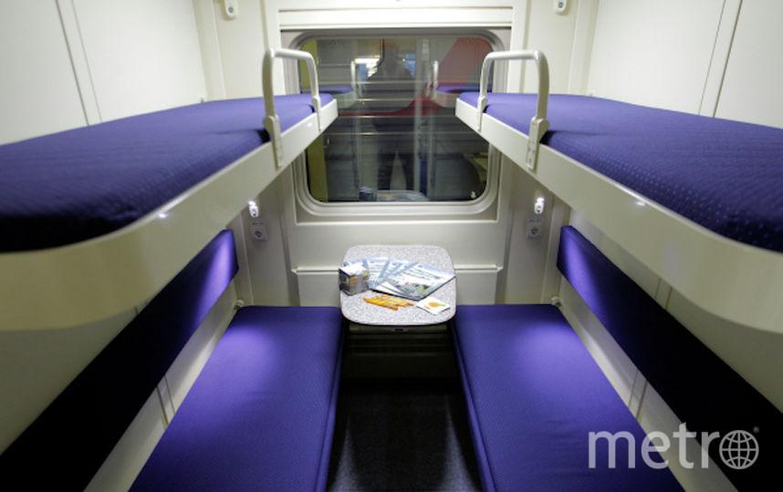 Полки в поезде. Фото РИА Новости