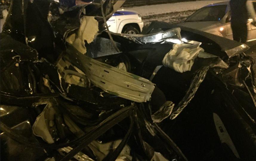 авария произошла на Софийской улице в Петербурге. Фото vk.com