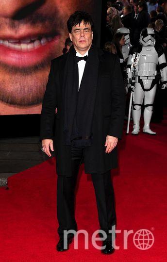 """Премьера 8 эпизода """"Звездных войн"""" в Лондоне. Бенисио дель Торо. Фото Getty"""