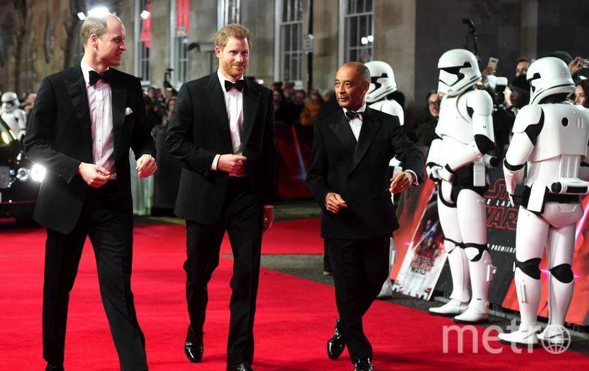 """Премьера 8 эпизода """"Звездных войн"""" в Лондоне. Принцы вышли на красную дорожку. Фото Getty"""