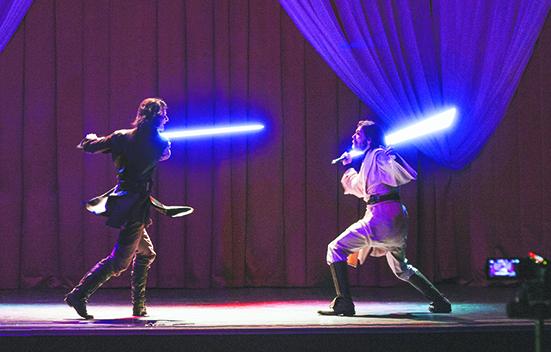 Премьера боя Оби-Вана и Энакина. Фото предоставлено школой