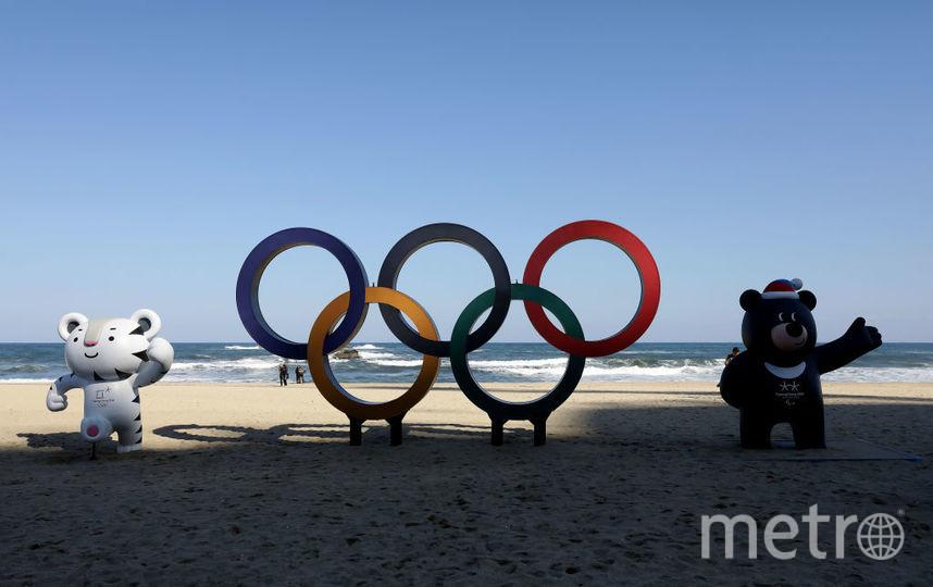 Олимпийские кольца в Южной Корее. Фото Getty