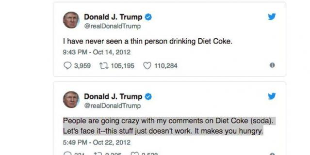 Посты Трампа в Twitter.