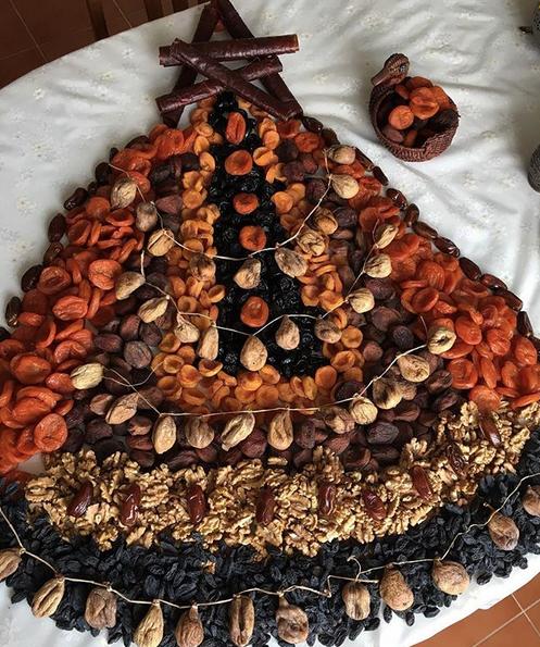 Самые необычные съедобные ёлки в Instagram: Фото. Фото Скриншот Instagram: @gulnarkurmanova