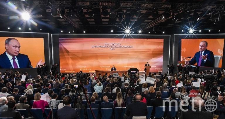 Большая пресс-конференция Владимира Путина. Фото AFP