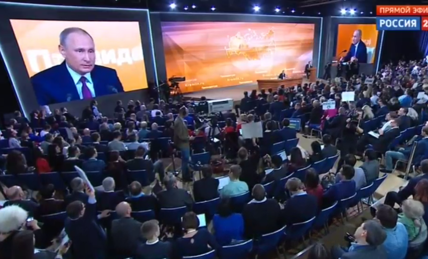 """Почему Владимира Путина назвали """"бабаем"""". Фото Скриншоты трансляции"""