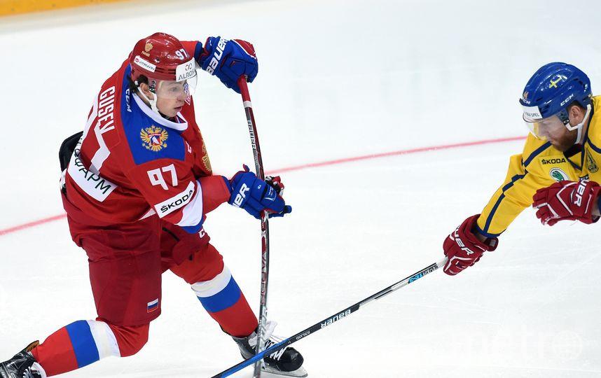 Нападающий СКА Никита Гусев отметился одной из заброшенных шайб. Фото photo.khl.ru/Владимир Беззубов