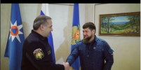 Рамзану Кадырову вручили генеральский кортик: видео