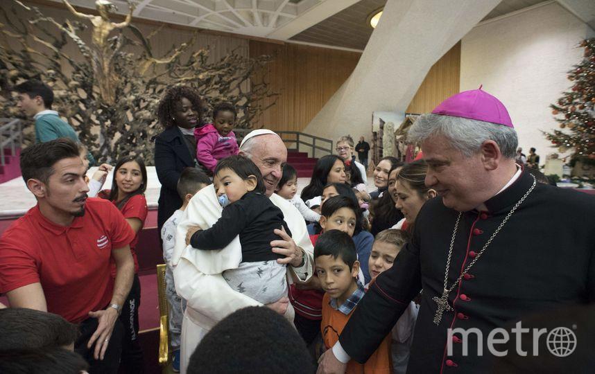 День рождения папы совпал с еженедельным обращением к верующим. Фото AFP