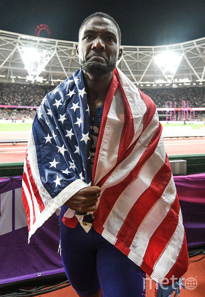 Американский бегун Джастин Гэтлин. Фото Getty